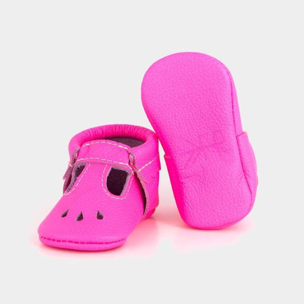 MARY JANES NEON PINK