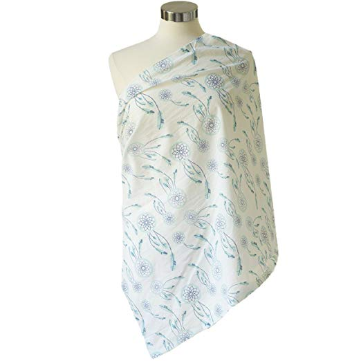 ITZY RITZY NURSING HAPPENS INFINITY BREASTFEEDING SCARF - SWEET DREAMCATCHER BLUE