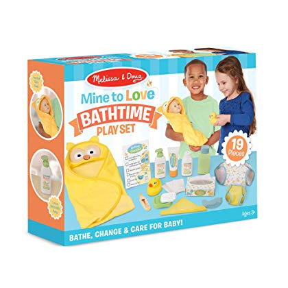 MELISSA & DOUG - MINE TO LOVE CHANGING AND BATH TIME PLAY SET