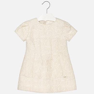MAYORAL JACQUARD DRESS CHAMPAGNE