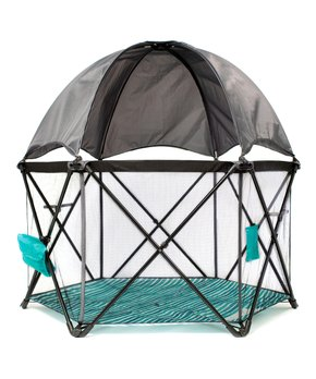 BABY DELIGHT GO WITH ME ECLIPSE PORTABLE PLAYARD WITH CANOPY - OCEAN WAVES W/ GREY CANOPY