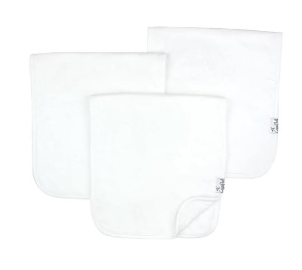 COPPER PEARL WHITE BASICS BURP CLOTH SET (3-PACK)