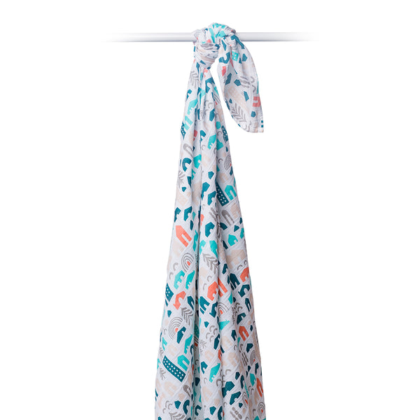 LULUJO NEIGHBOURHOOD MUSLIN SWADDLE BLANKET