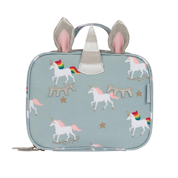 OILCLOTH SMALL LUNCH BAG- UNICORN