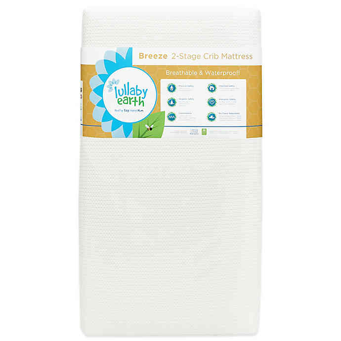 NATUREPEDIC LULLABY EARTH BREEZE 2-STAGE CRIB MATTRESS - WHITE