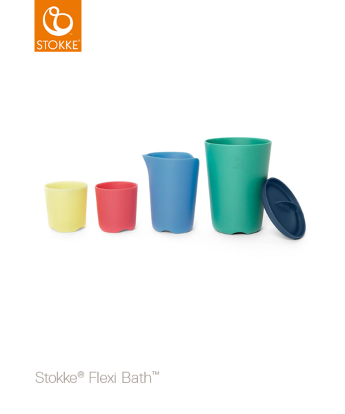 FLEXI BATH TOY CUPS MULTI COLOR