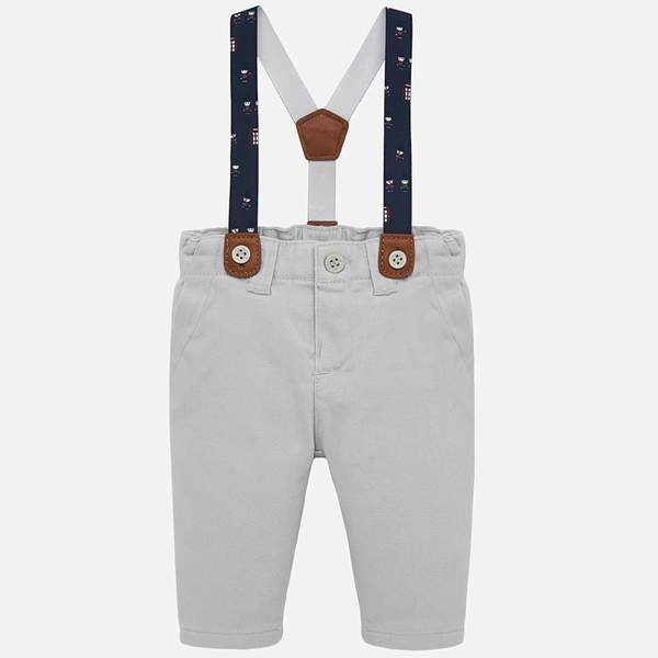 MAYORAL TWILL PANTS WITH SUSPENDERS FOR BABY BOY