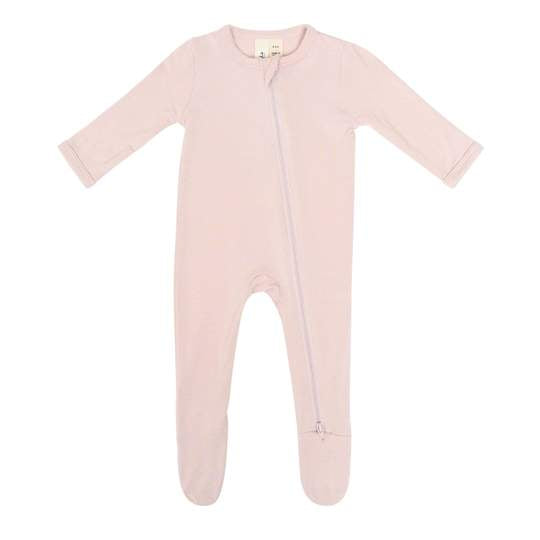 KYTE BABY ZIPPERED FOOTIE IN BLUSH