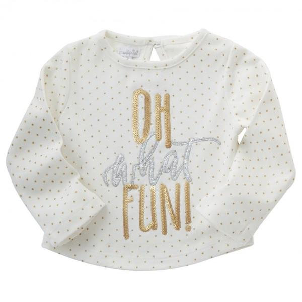 OH WHAT FUN DAZZLE TEE BY MUD PIE