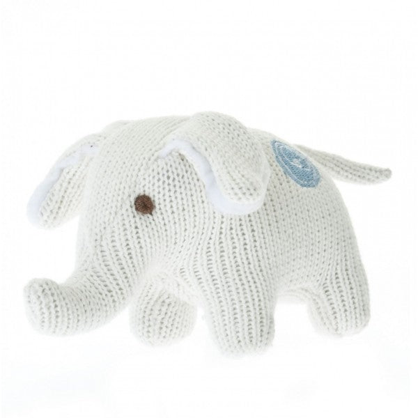 BEBA BEAN - KNIT ELEPHANT LARGE IVORY