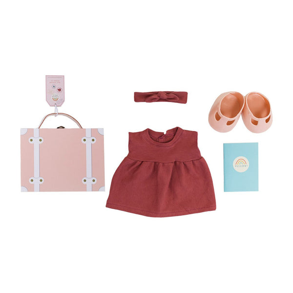 OLLIE ELLA DINKUM DOLL TRAVEL TOGS ROSE
