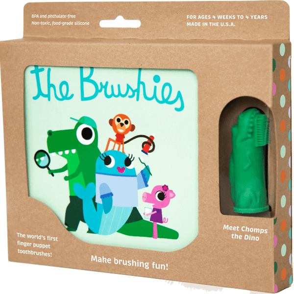 CHOMPS THE DINO AND BRUSHIES BOOK