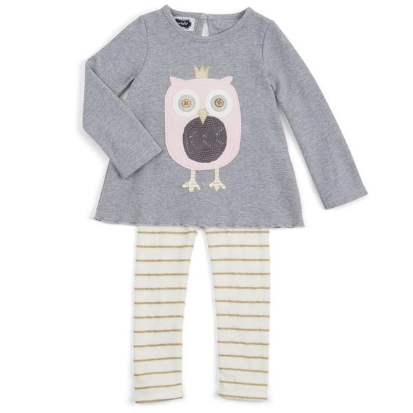 OWL TUNIC AND LEGGINGS SET 5T