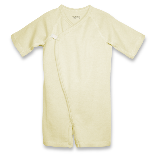 KITE HILL CLOTHING - YELLOW KIMONO ONESIE