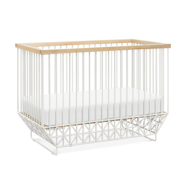 UBABUB MOD CRIB IN WARM WHITE AND NATURAL