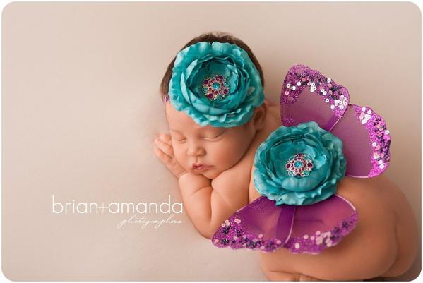 TURQUOISE AND PURPLE BW PHOTO PROP