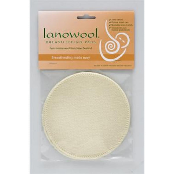LANOWOOL - BREASTFEEDING PADS PURE MERINO WOOL