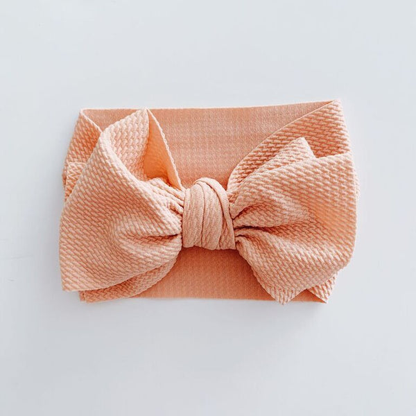 SUGAR + MAPLE BABY HEADWRAP - CORAL