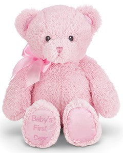 BABY'S 1ST BEAR PINK, MEDIUM