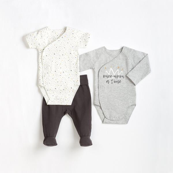 BABY 3 PK HEATHER GREY 3M