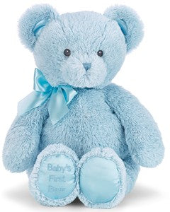 BABY'S 1ST BEAR BLUE, MEDIUM