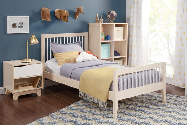 BABYLETTO SPROUT TWIN BED IN WASHED NATURAL/WHITE