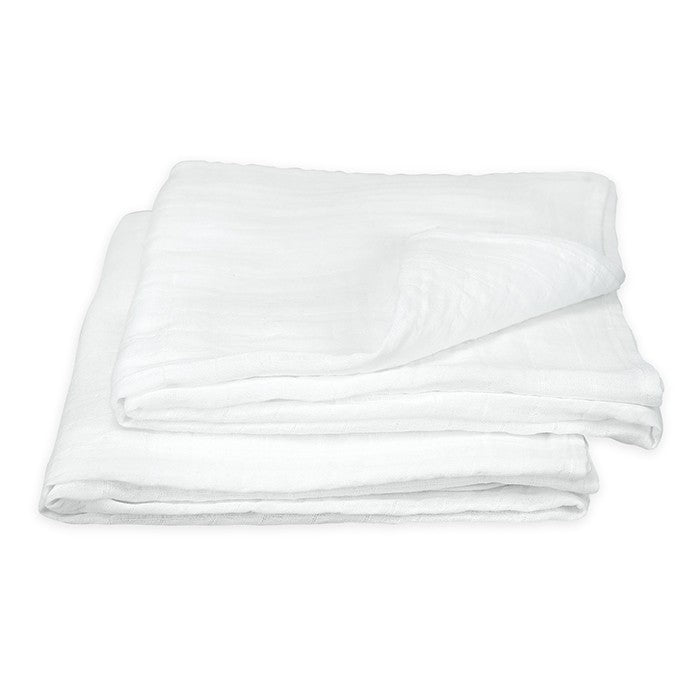 GREEN SPROUTS MUSLIN SWADDLE BLANKETS WHITE 44X44 IN