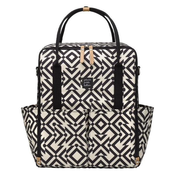INTER-MIX BACKPACK IN MAZES OF MILANO - BLACK