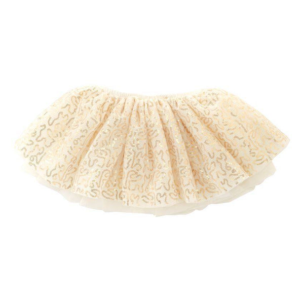 MUD PIE GOLD SEQUIN MESH TUTU (12M-5T)