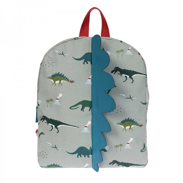 OILCLOTH BACK PACK- SPIKE DINOSAURS