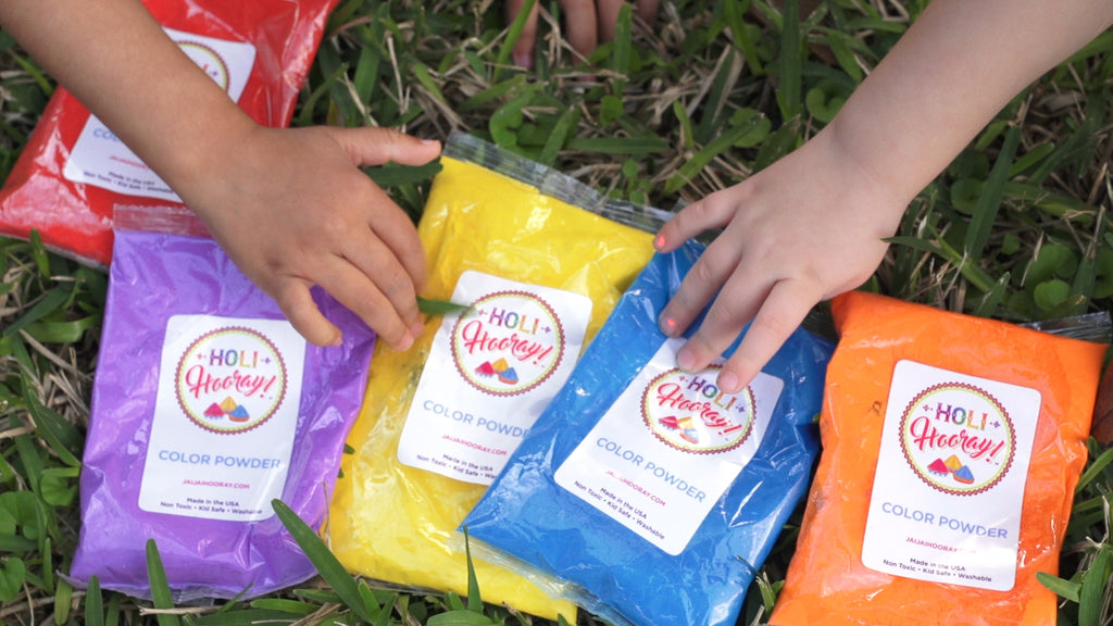 "100 pack 100g Holi Hooray! Color Powder -  ""Make it Rain"""