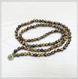 Tiger's Eye 108 Mala Bracelet or Necklace