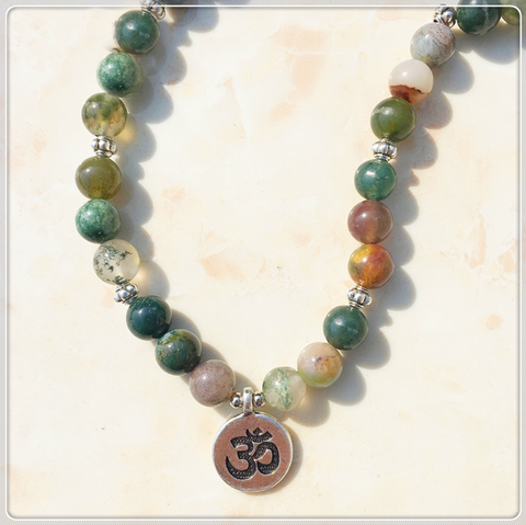 Indian agate 108 mala bracelet or necklace zenlife boutique for Mala india magasin waterloo