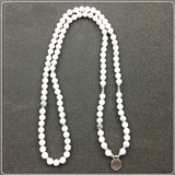 Howlite 108 Mala Bracelet or Necklace