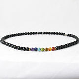 Black Onyx 8MM Bead 7 Chakra Necklace