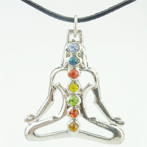 7 Chakra Pendant Buddha Yoga Meditation Necklace