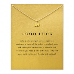 Gold Plated Lucky Elephant Pendant Necklace