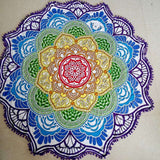 Indian Bohemian Mandala Lotus Flower Wall Hanging, Beach Towel, Yoga Mat