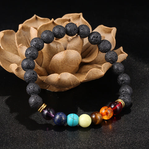 7 Chakra Essential Oil Diffuser Bracelet - Free (Just Pay Shipping & Handling)