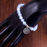 Tree of Life White Moonstone Bracelet
