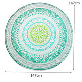 Beautiful Indian Round Mandala Mint Green Tapestry or Beach Towel