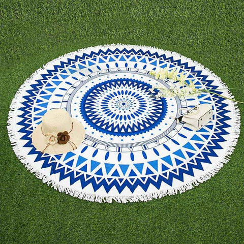 Mystical Roundie Microfiber Beach Throw