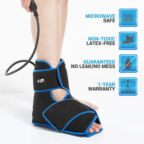 Microwave safe, non-toxic latex-free, Ankle Brace Hot and Cold Compression