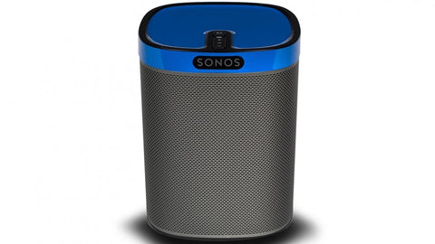 sonos Play 1 compact wireless speaker with cobalt blue gloss colourplay skin