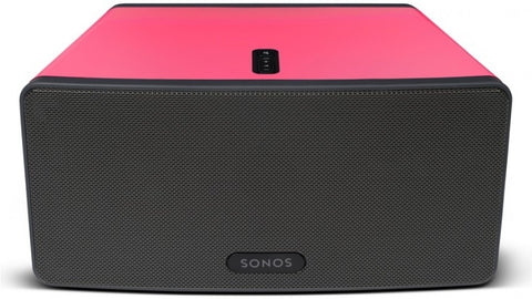 Sonos Play 3 Candy pink gloss Skin on  black speaker
