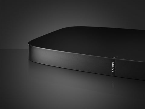 Partial view of black Sonos Playbase
