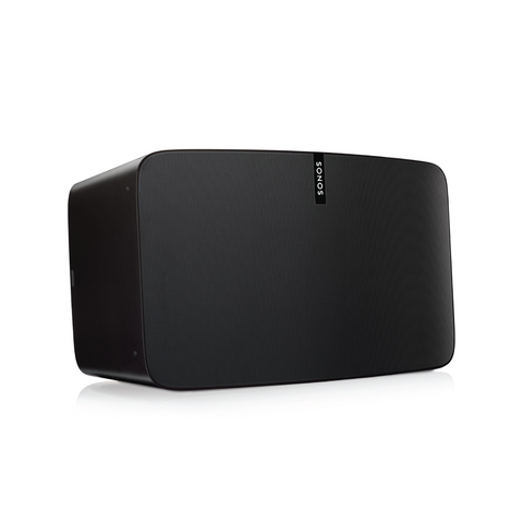 black sonos Play 5 Gen 1 wireless speaker with six custom designed drivers with dedicated amplifiers