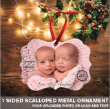 1 Sided Metal Christmas Ornaments