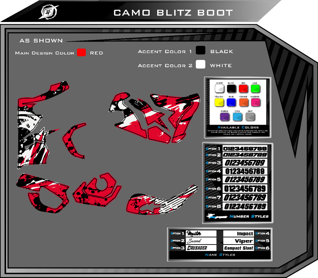 Camo Blitz Boot Graphic Kit