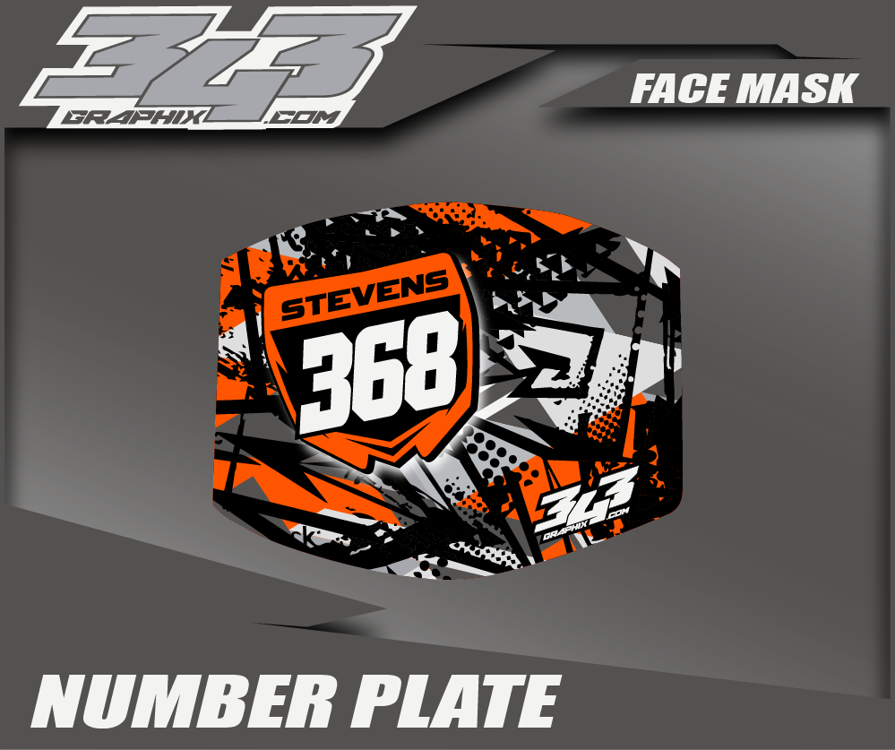 Number Plate Face Masks